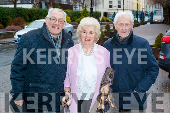Tony Ennis, Una Buckley and Joe Cotter, all from Tralee, pictured at the Tralee Credit Union 50th Anniversary Mass, in St. John's Church, on Sunday morning last.