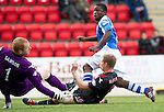 St Johnstone v St Mirren....06.10.12      SPL.Nigel Hasselbaink makes it 1-0.Picture by Graeme Hart..Copyright Perthshire Picture Agency.Tel: 01738 623350  Mobile: 07990 594431