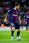 9th September 2017, Camp Nou, Barcelona, Spain; La Liga football, Barcelona versus Espanyol; Leo Messi from Argentina of FC Barcelona controls the ball