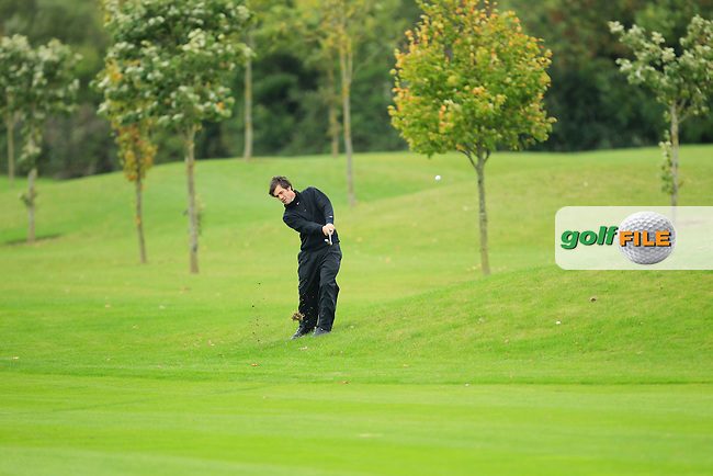 Tim Rice on the 14th during Round 3 of The Cassidy Golf 103rd Irish PGA Championship in Roganstown Golf Club on Saturday 12th October 2013.<br /> Picture:  Thos Caffrey / www.golffile.ie