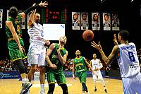 GRONINGEN - Basketbal , Donar - Petrolina AEK, Europe Cup, seizoen 2018-2019, 30-01-2019,  Donar speler Drago Pasalic met Petrolina  speler  Iakovos Panteli