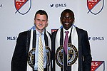 14 January 2016: Joshua Yaro (GHA) (right) was selected with the #2 overall pick, and Keegan Rosenberry (left)) was taken #3, both by the Philadelphia Union. The 2016 MLS SuperDraft was held at The Baltimore Convention Center in Baltimore, Maryland as part of the annual NSCAA Convention.