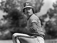 Oakland Athletics pitcher Matt Keough..(1983 photo/Ron Riesterer)