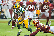 Landover, MD - September 23, 2018: Green Bay Packers running back Ty Montgomery (88) runs the ball during the  game between Green Bay Packers and Washington Redskins at FedEx Field in Landover, MD.   (Photo by Elliott Brown/Media Images International)