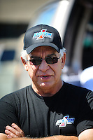 Jul. 17, 2010; Sonoma, CA, USA; NHRA top fuel dragster driver Steve Faria during qualifying for the Fram Autolite Nationals at Infineon Raceway. Mandatory Credit: Mark J. Rebilas-