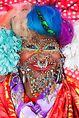 Portrait of Elaine Davidson, the world's most pierced woman, London, England, UK