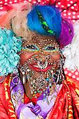 Portrait of Elaine Davidson, the world's most pierced woman, London, England, UK