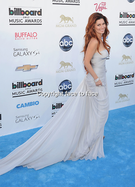 LAS VEGAS, CA- MAY 19: Singer Shania Twain arrives at the 2013 Billboard Music Awards at the MGM Grand Garden Arena on May 19, 2013 in Las Vegas, Nevada...Credit: Mayer/face to face..- No Rights for USA, Canada and France -