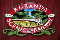 Océanie/Australie/Queensland/Kuranda: enseigne du Kuranda Scenic railway, train touristique qui traverse la rainforest