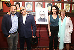 Norbert Leo Butz, David Yazbek, Katrina Lenk and Patti LuPone during the Sardi's Portrait unveiling for The Band's Visit composer-lyricist David Yazbek at Sardi's on June 7, 2018 in New York City.
