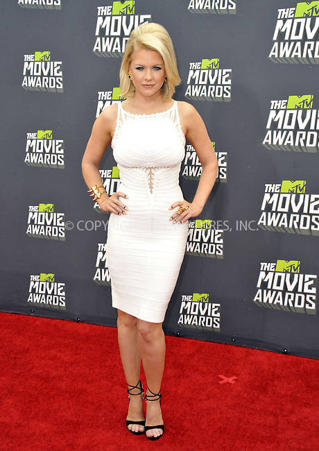 WWW.ACEPIXS.COM....April 14, 2013, Los Angeles, Ca.......Carrie Keagan arriving at the 2013 MTV Movie Awards at Sony Pictures Studios on April 14, 2013 in Culver City, California.......By Line: Peter West/ACE Pictures....ACE Pictures, Inc..Tel: 646 769 0430..Email: info@acepixs.com