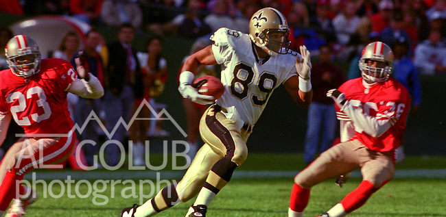 San Francisco 49ers vs. New Orleans Saints at Candlestick Park Sunday, October 29, 1995.  Saints beat 49ers  11-7.  New Orleans Saints wide receiver Quinn Early (89).