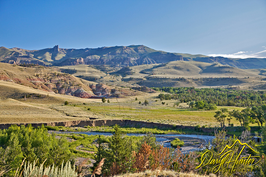Meeteetse Grey Bull River Valley, Bighorn Basin, Absaroka Mountains, Cody, Wyoming