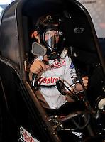 Apr. 13, 2008; Las Vegas, NV, USA: NHRA funny car driver Ashley Force during the SummitRacing.com Nationals at The Strip in Las Vegas. Mandatory Credit: Mark J. Rebilas-
