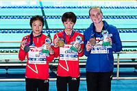 CHEN Yuxi CHN CHINA Gold Medal, LU Wei CHN CHINA Silver Medal, SCHNELL Delaney USA UNITED STATES OF AMERICA Bronze Medal<br /> Gwangju South Korea 17/07/2019<br /> Diving 10m Platform Final<br /> 18th FINA World Aquatics Championships<br /> Nambu University Aquatics Center <br /> Photo © Andrea Staccioli / Deepbluemedia / Insidefoto