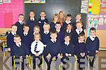 GREAT DAY: Great day for Abbeydorney NS as 20 young pupils started their shool on Monday. Front l-r: Peter Hinchcliffe, Molly Frehill, Jamie Stack, Shaunagh Brosnan and Calum O'Sullivan. Centre row l-r: George Stack Patton, Gearoid Walsh, Sophie Holden, Sam Griffin, Jack Bolger, Anna Kerdzaig, Kiara Moore and Kian Sheehan. Back l-r: Conor Cronin, Shauna Cronin, Pauric Meaney, Grainne Leahy, Trina O'Connell (teacher),jack Lyne Moynihan and Caoimhe Lynch.... ....