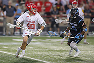 College Park, MD - April 29, 2017: Maryland Terrapins Connor Kelly (40) in action during game between John Hopkins and Maryland at  Capital One Field at Maryland Stadium in College Park, MD.  (Photo by Elliott Brown/Media Images International)