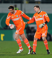 FUSSBALL   DFB POKAL   SAISON 2011/2012   HALBFINALE SpVgg Greuther Fuerth - Borussia Dortmund                  20.03.2012 Einwechslung  in der 118. Spielminute von Torwart Jasmin Fejzic (Greuther Fuerth)  gegen Torwart  Max Gruen (re, (Greuther Fuerth) )