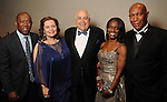 From left: Sylvester Turner, Noel Bezette-Flores, Dr. William Flores, Judge Clarease Yates and Cary Yates at Celebrating 40 Years: University of Houston- Downtown Gala at the JW Marriott Downtown Friday Jan. 23,2015.(Dave Rossman For the Chronicle)