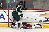 Chris Muscoby (UVM - 24), Graham McPhee (BC - 27) - The Boston College Eagles defeated the University of Vermont Catamounts 7-4 on Saturday, March 11, 2017, at Kelley Rink to sweep their Hockey East quarterfinal series.The Boston College Eagles defeated the University of Vermont Catamounts 7-4 on Saturday, March 11, 2017, at Kelley Rink to sweep their Hockey East quarterfinal series.