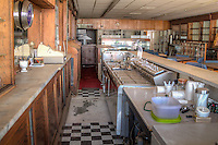 The Owl Drug Store and Soda Fountain located on Route 66 in Sayer Oklahoma operated from 1901 to 1997, and has the longest antique soda fountain in the state.