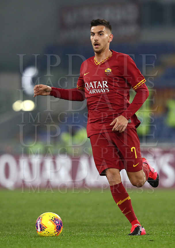 Football, Serie A: AS Roma - S.S. Lazio, Olympic stadium, Rome, January 26, 2020. <br /> Roma's Lorenzo Pellegrini in action during the Italian Serie A football match between Roma and Lazio at Olympic stadium in Rome, on January,  26, 2020. <br /> UPDATE IMAGES PRESS/Isabella Bonotto