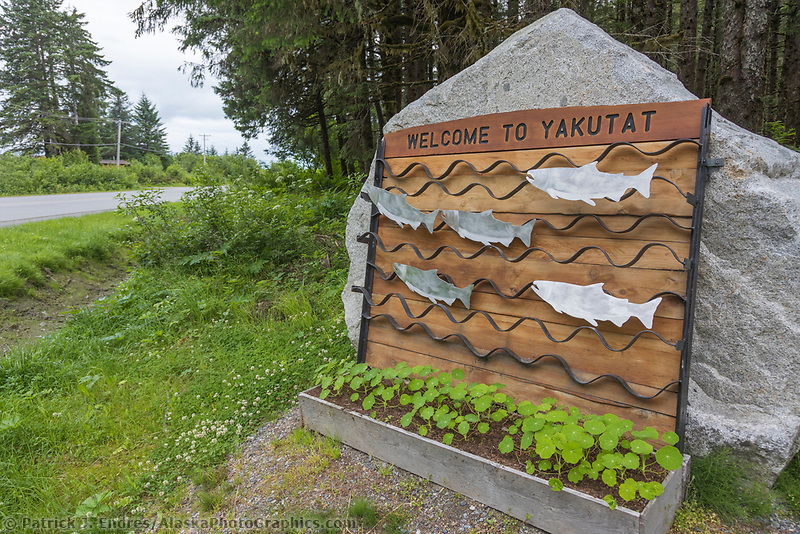 Coastal town of Yakutat, Southeast, Alaska