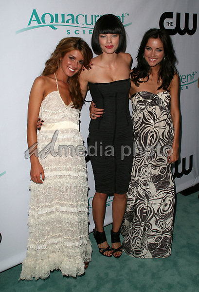 "23 August 2008 - Malibu, California - Shenae Grimes, AnnaLynne McCord and Jessica Stroup. CW Network's ""90210"" Premiere Party held at a Private Location. Photo Credit: Faye Sadou/AdMedia"