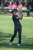 Jordan Spieth (USA) watches his approach shot on 2 during round 4 of the World Golf Championships, Mexico, Club De Golf Chapultepec, Mexico City, Mexico. 3/4/2018.<br /> Picture: Golffile | Ken Murray<br /> <br /> <br /> All photo usage must carry mandatory copyright credit (© Golffile | Ken Murray)
