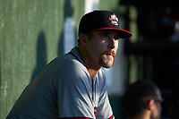 Brendan Venter (9) of the Rome Braves during the game against the Kannapolis Intimidators at Kannapolis Intimidators Stadium on July 2, 2019 in Kannapolis, North Carolina.  The Intimidators walked-off the Braves 5-4. (Brian Westerholt/Four Seam Images)