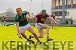 Michael O'Leary Kerry in action against Darragh Clinton Westmeath in the Allianz Hurling League 2A at Austin Stack Park on Sunday.