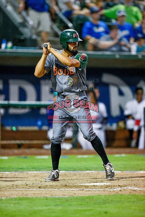 Northwest League All-Star Jacob Bosiokovic (39) of the Boise Hawks at bat against the Pioneer League All-Stars at the 2nd Annual Northwest League-Pioneer League All-Star Game at Lindquist Field on August 2, 2016 in Ogden, Utah. The Northwest League defeated the Pioneer League 11-5. (Stephen Smith/Four Seam Images)