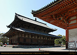 Kondo Golden Hall, Kodo Lecture Hall detail, Toji East Temple, Kyoto, Japan