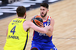Turkish Airlines Euroleague.<br /> Final Four - Vitoria-Gasteiz 2019.<br /> Semifinals.<br /> Fenerbahce Beko Istanbul vs Anadolu Efes Istanbul: 73-92.<br /> Nicolo Melli vs Vasilije Micic.