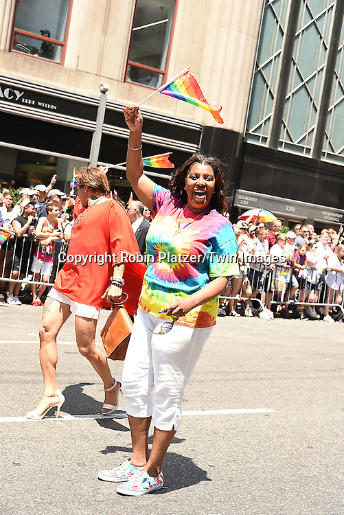 Letitia James attends the New York City Gay Pride March 2016 on June 26, 2016 on Fifth Avenue in New York City, New York, USA.<br /> <br /> photo by Robin Platzer/Twin Images<br />  <br /> phone number 212-935-0770