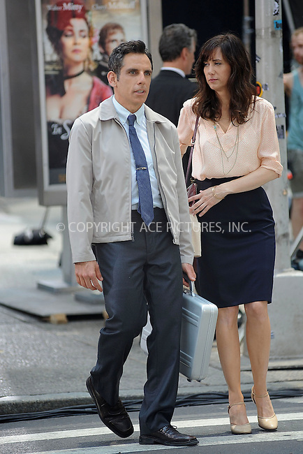 "WWW.ACEPIXS.COM . . . . . .May 29, 2012...New York City.... Ben Stiller and Kristen Wiig on the film set ""The Secret Life of Walter Mitty"" on May 29, 2012 in New York City ....Please byline: KRISTIN CALLAHAN - ACEPIXS.COM.. . . . . . ..Ace Pictures, Inc: ..tel: (212) 243 8787 or (646) 769 0430..e-mail: info@acepixs.com..web: http://www.acepixs.com ."