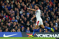 Andros Townsend celebrates scoring Crystal Palace's opening goal during Chelsea vs Crystal Palace, Premier League Football at Stamford Bridge on 4th November 2018