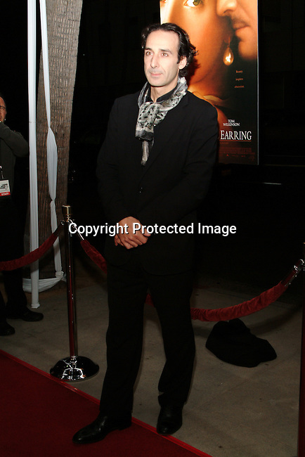 Alexandre Desplat<br />GIRL WITH A PEARL EARRING   Los Angeles Premiere<br />The Academy of Motion Pictures Arts &amp; Sciences, Samuel Goldwyn Theatre<br />Beverly Hills, CA, USA<br />Wednesday, December 10th, 2003    <br />Photo By Celebrityvibe.com/Photovibe.com