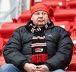 Nederland, Alkmaar, 25 november  2012.Eredivisie.Seizoen 2012-2013.AZ-Feyenoord.AZ supporter