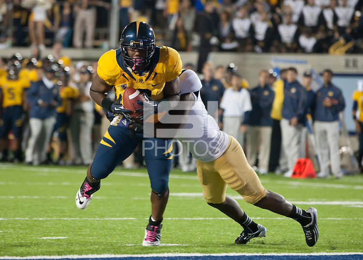 October 6th, 2012: California's C.J. Anderson fights to score during a game against UCLA at Memorial Stadium, Berkeley, Ca    California defeated UCLA 43 - 17