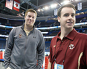 Kevin Pratt (BC - Manager), Tom Maguire (BC - Manager) - The Boston College Eagles practiced on Wednesday, April 4, 2012, during the 2012 Frozen Four at the Tampa Bay Times Forum in Tampa, Florida.