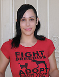 "Nadya Suleman the Famous Mother of Octuplets Accepts PETA's Offer to Help Her Keep Her House by Promoting Spaying and Neutering & unveiling a poster stating ""Don't Let Your Dog or Cat Become an 'Octomom'--Always Spay or Neuter"" held at Nadya's home in La Habra, California on May 19,2010                                                                   Copyright 2010  DVS / RockinExposures"
