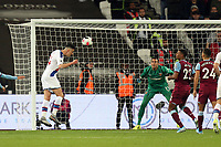 Gary Cahill of Crystal Palace heads back across goal for Jordan Ayew of Crystal Palace to score the second goal during West Ham United vs Crystal Palace, Premier League Football at The London Stadium on 5th October 2019