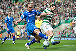 Celtic v St Johnstone....01.04.12   SPL.Lee Crotft and Joe Ledley.Picture by Graeme Hart..Copyright Perthshire Picture Agency.Tel: 01738 623350  Mobile: 07990 594431
