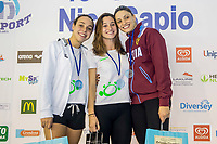 Podio 200 Rana Donne<br /> Da Sx a Dx Pirovano, Fangio, Scarcella<br /> 45 Trofeo Nico Sapio Fin<br /> Genova, Piscina La Sciorba 9-10/11/2018<br /> Photo A.Masini/Deepbluemedia/Insidefoto