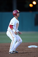 Jeremy Martinez (2) of the Southern California Trojans runs the bases during a game against the Washington State Cougars at Dedeaux Field on March 13, 2015 in Los Angeles, California. Southern California defeated Washington State, 10-3. (Larry Goren/Four Seam Images)