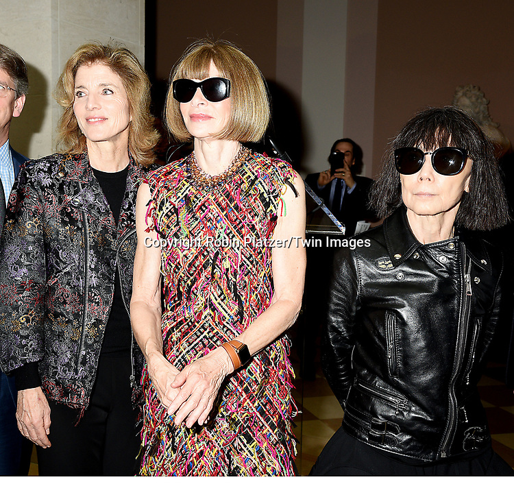 Caroline Kennedy,Anna Wintour and Rei  Kawakuboattends the Press Preview of Rei Kawakubo/Comme des Garcons: Art of the In-Between exhibit at The Costume Institute at the Metropolitan Museum of Art on May 1, 2017 in New York, New York, USA. <br /> <br /> photo by Robin Platzer/Twin Images<br />  <br /> phone number 212-935-0770