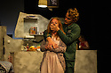 London, UK. 17.07.2014. Mountview Academy of Theatre Arts presents THE HOUSE OF BLUE LEAVES, by John Guare, directed by Jacqui Somerville, at the Unicorn Theatre, as part of the Postgraduate Season 2014. Picture shows: Rosalinde Case (Bananas Shaughnessy) and Tim Gibson (Artie Shaughnessy). Photograph © Jane Hobson.