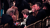 Steven Spielberg and wife Kate Capshaw talk to Matrin Short, and Bruce Springsteen and his wife Patti Scialfal at the reception in the East Room of the White House in Washington, D.C. for the  37th Kennedy Center  Honorees on Sunday, December 7, 2014.<br /> Credit: Dennis Brack / Pool via CNP