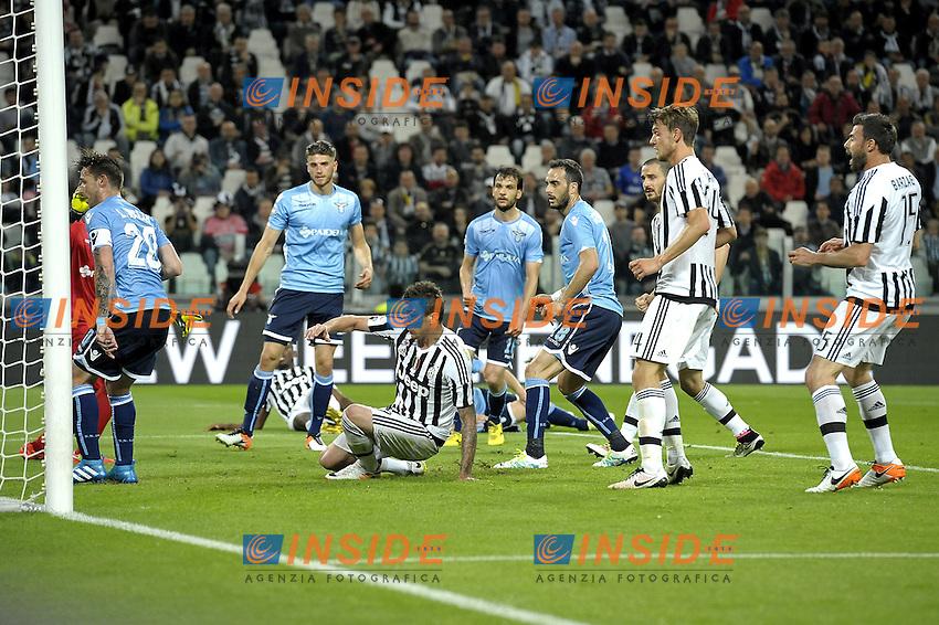 Mario Mandzukic Juventus gol 1-0, goal celebration,<br /> Torino 20-04-2016, Juventus Stadium, Football Calcio 2015/2016 Serie A, Juventus - Lazio, Foto Filippo Alfero/Insidefoto